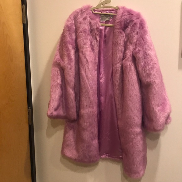 ASOS Jackets & Blazers - Pink mid-length fur coat